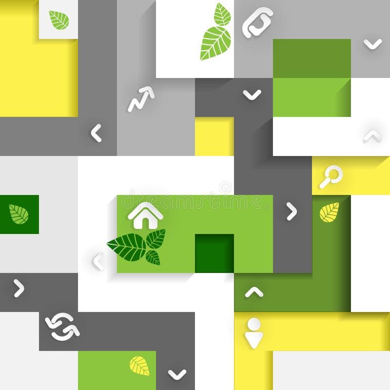 Elementi di Eco Infographic. illustrazione di stock