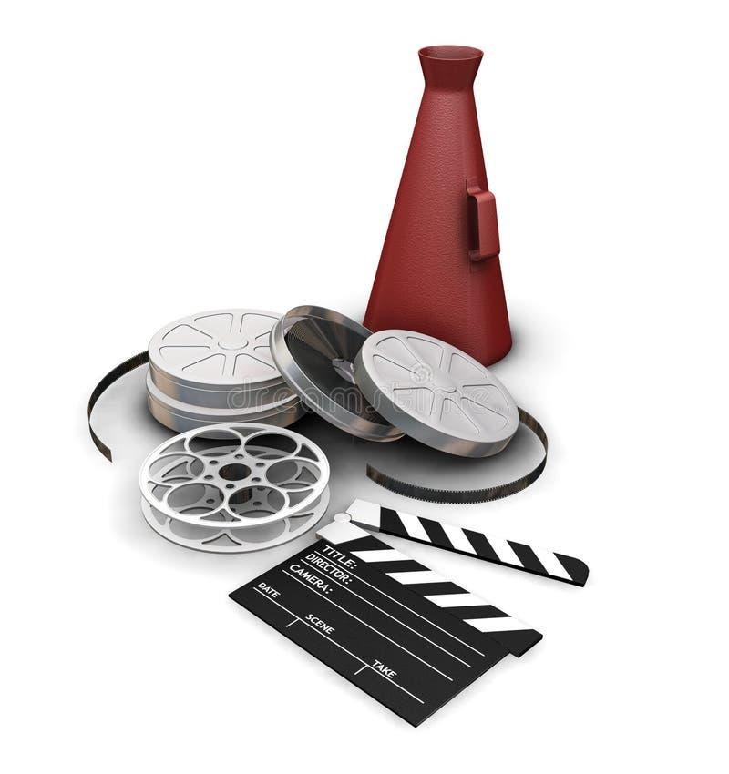 Elementi di film illustrazione vettoriale