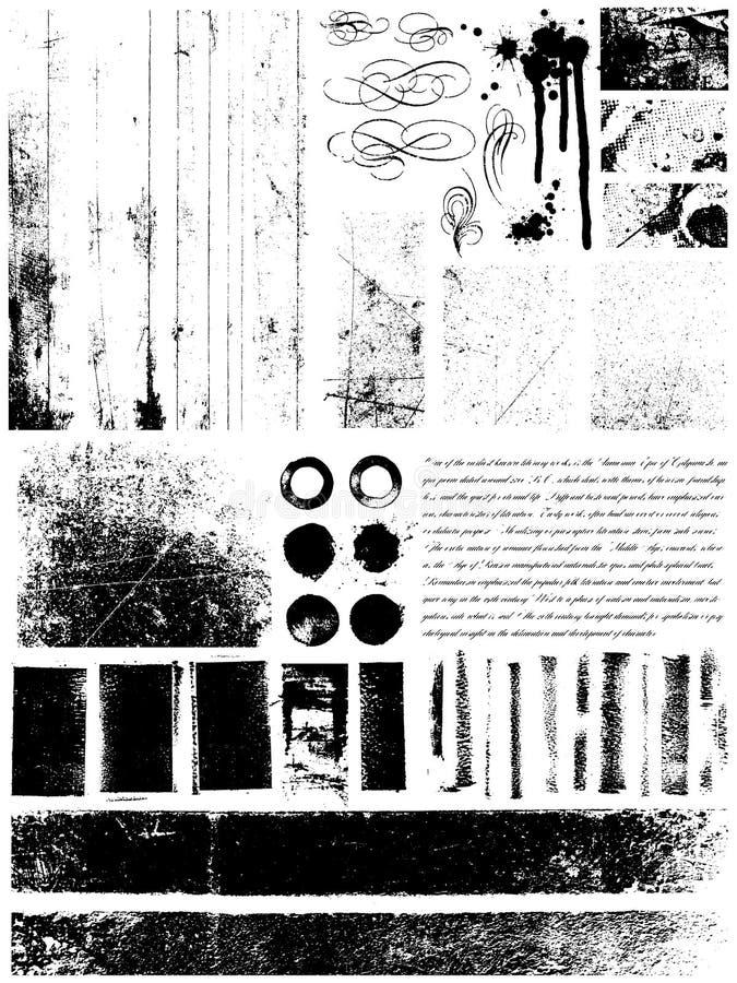 Elementi di Grunge illustrazione di stock