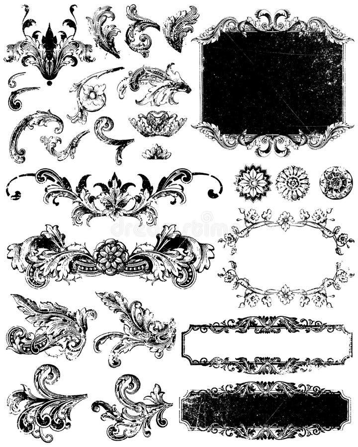 Elementi di Grunge illustrazione vettoriale