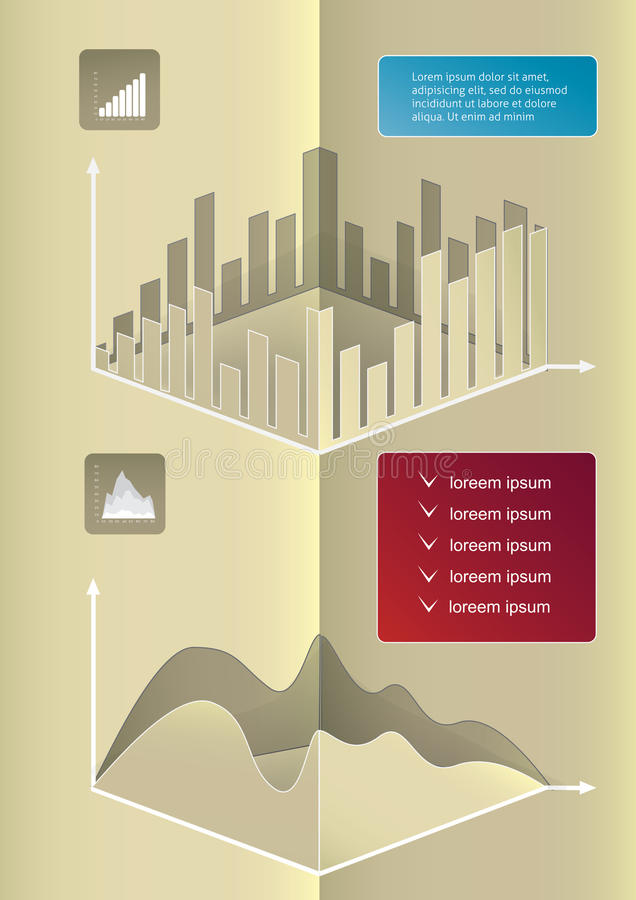 Elementi di Infographic illustrazione di stock