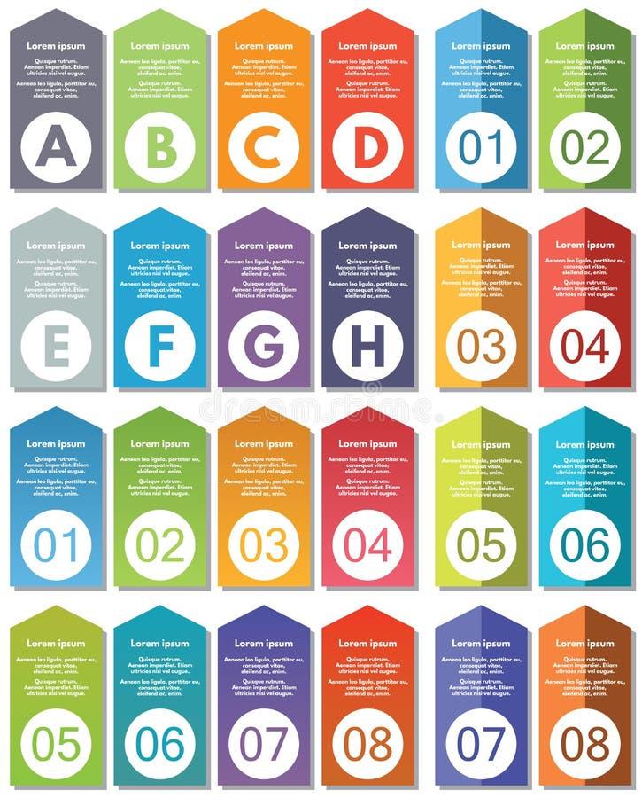 Elementi di Infographic #22 illustrazione vettoriale