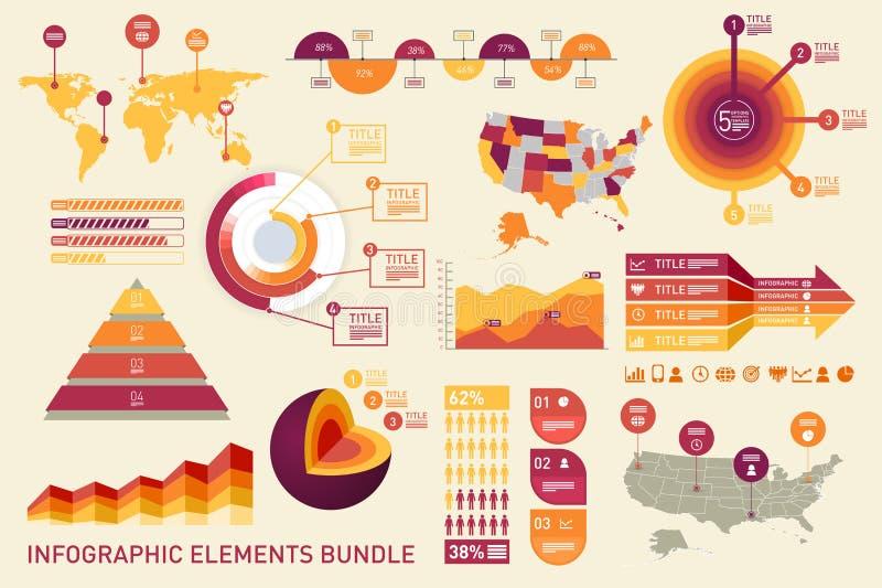 Elementi di Infographic royalty illustrazione gratis