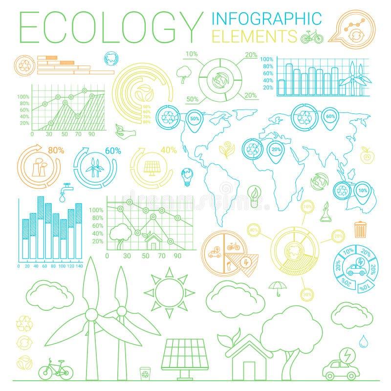 Elementi di Infographic di ecologia royalty illustrazione gratis