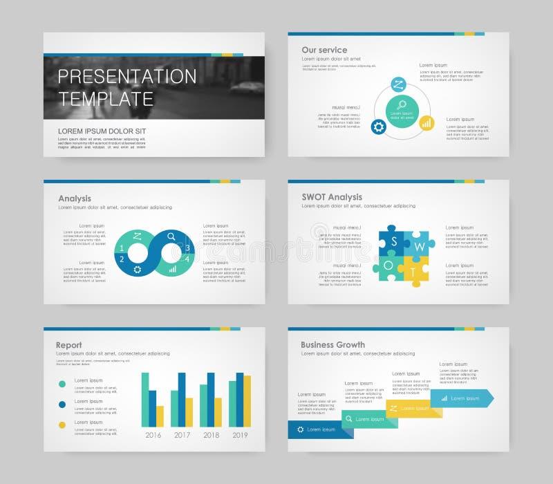 Elementi di Infographic per i modelli di presentazione royalty illustrazione gratis