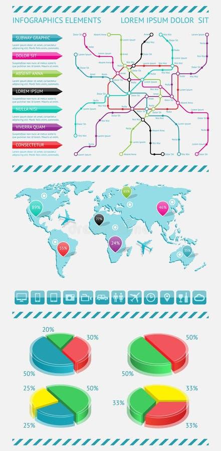 Elementi di Infographics illustrazione vettoriale