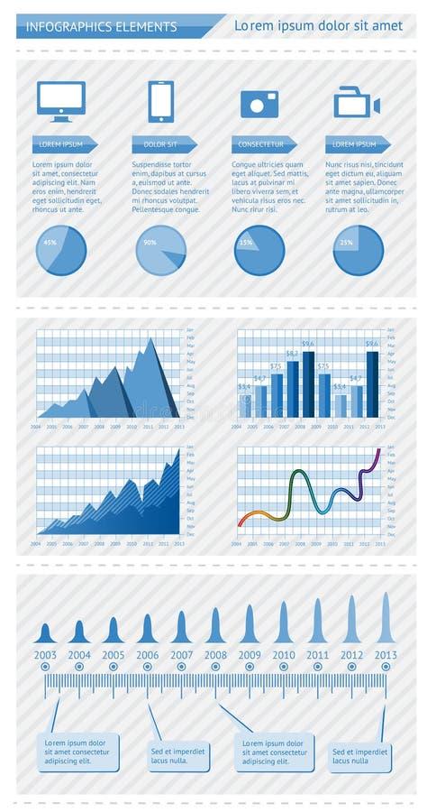 Elementi di Infographics royalty illustrazione gratis
