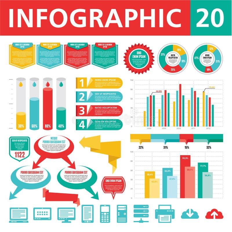 Elementi 20 di Infographics royalty illustrazione gratis
