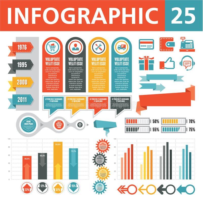 Elementi 25 di Infographics illustrazione di stock