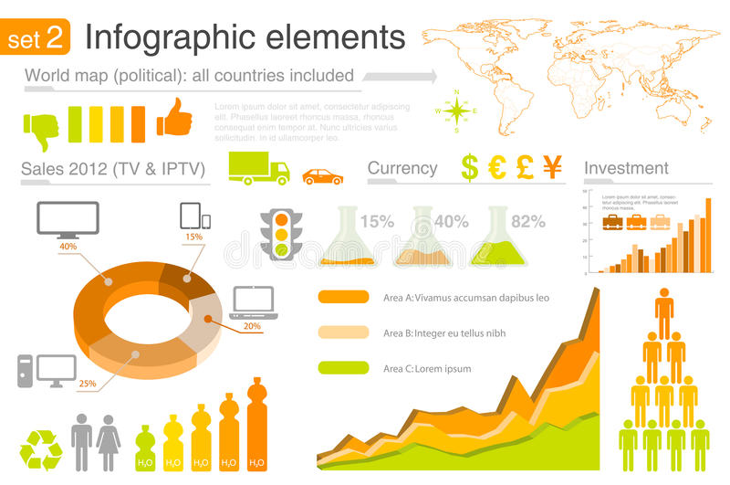 Elementi di Infographics con le icone illustrazione vettoriale