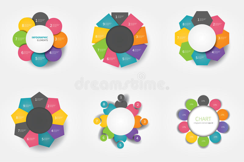 Elementi di infographics del cerchio royalty illustrazione gratis