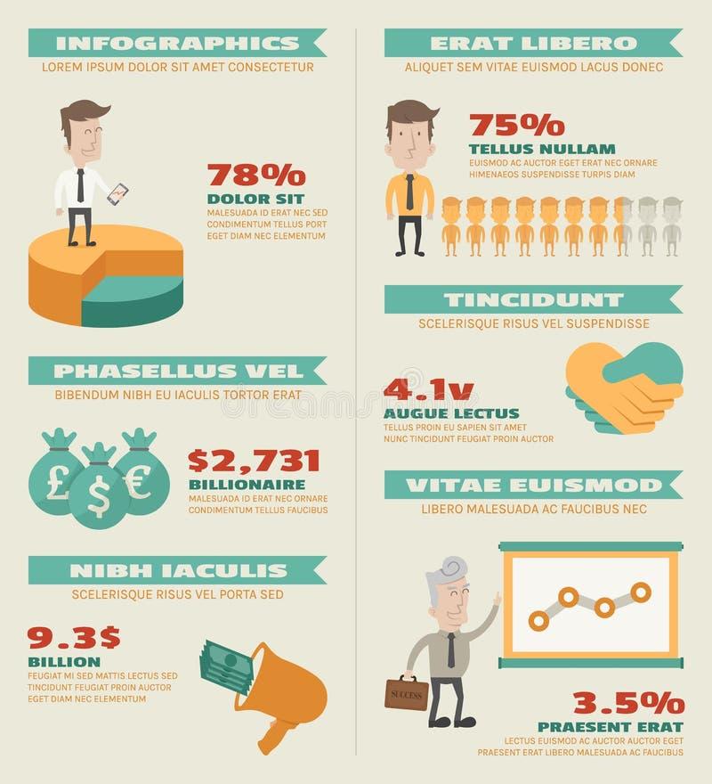 Elementi di infographics di affari royalty illustrazione gratis