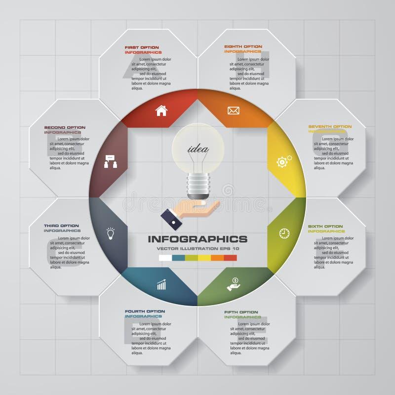 Elementi di infographis di punti dell'estratto 8 Illustrazione di vettore illustrazione di stock