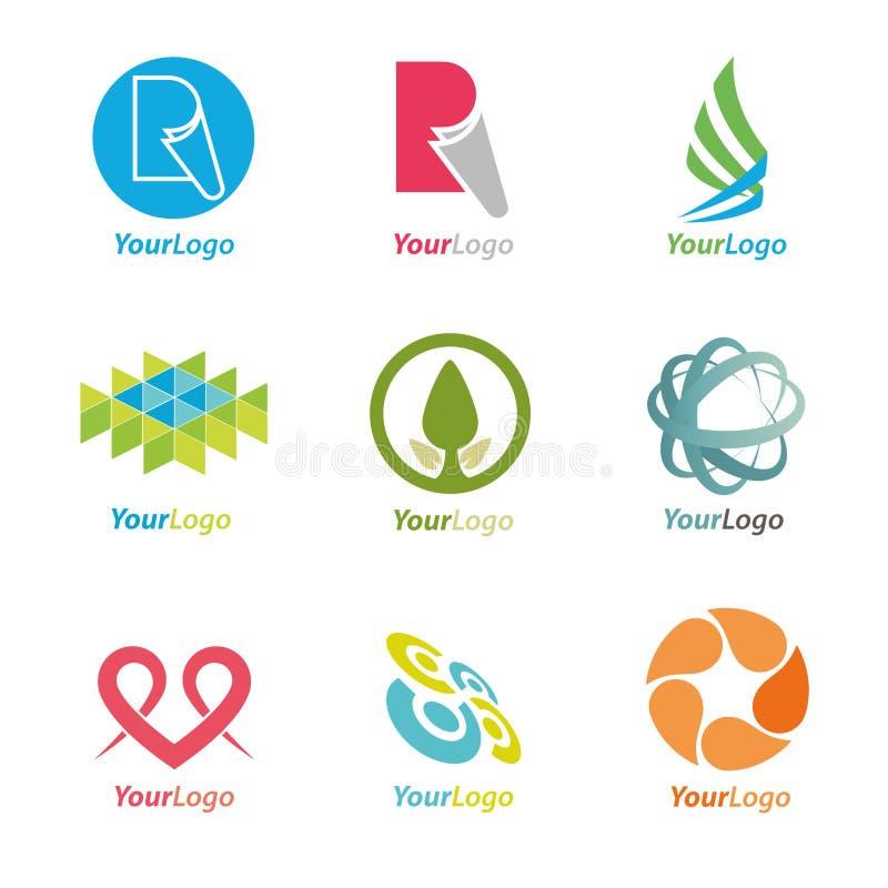 Elementi di marchio illustrazione di stock