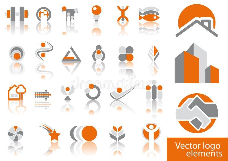 Elementi di marchio di vettore illustrazione vettoriale
