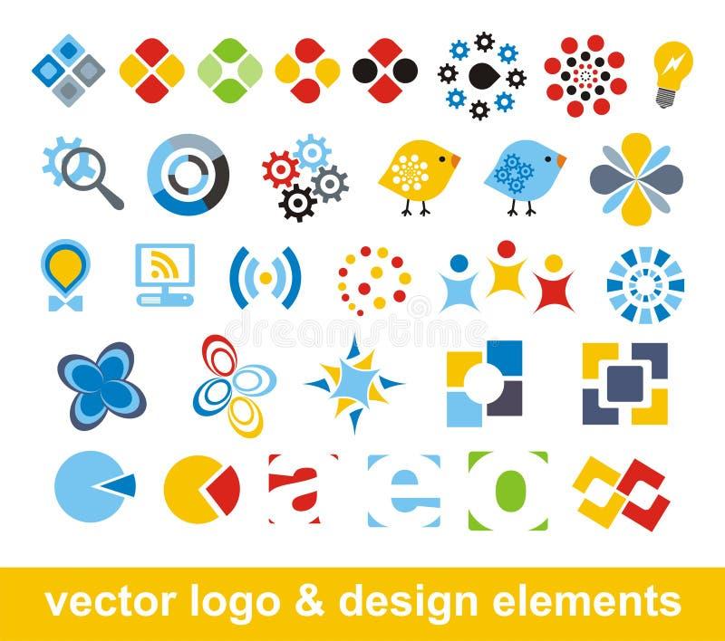 Elementi di marchio e di disegno di vettore royalty illustrazione gratis