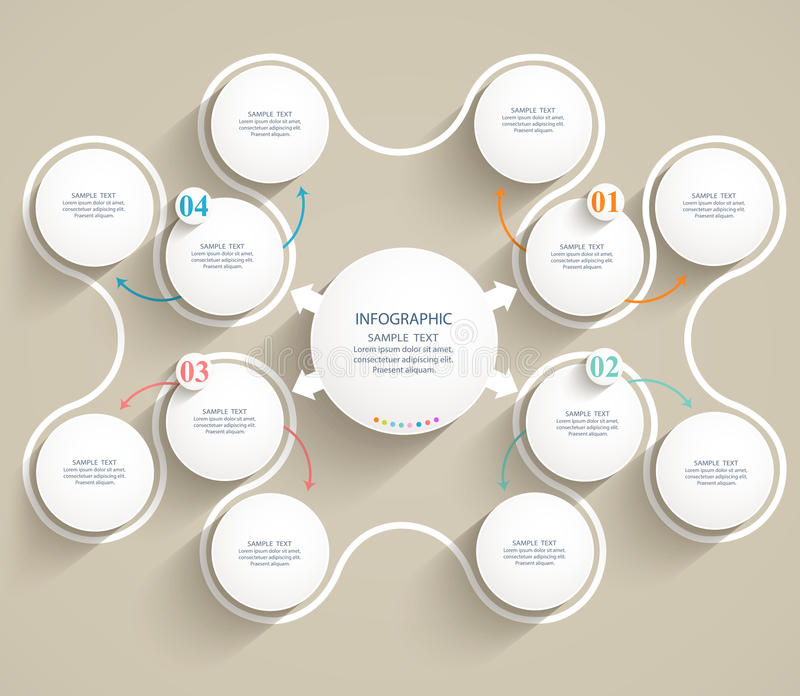 Elementi di modello piani astratti del infographics. royalty illustrazione gratis