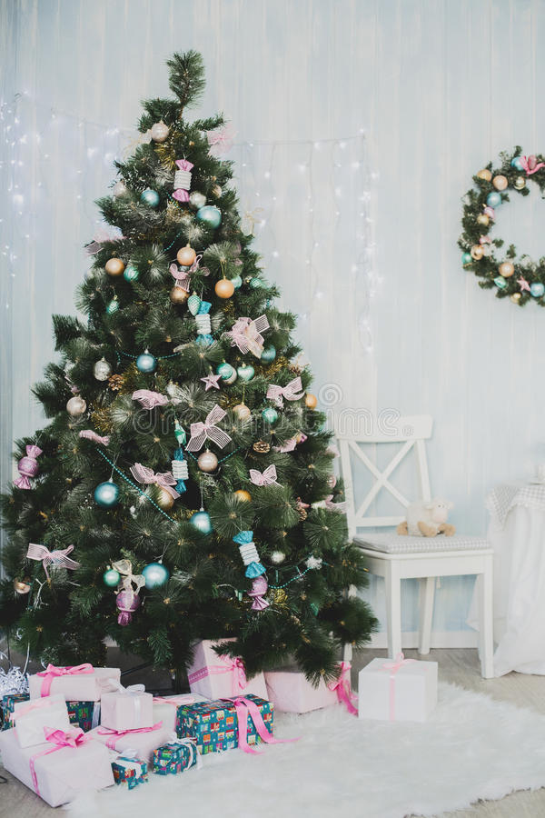 Elementi di Natale e del nuovo anno fotografia stock libera da diritti