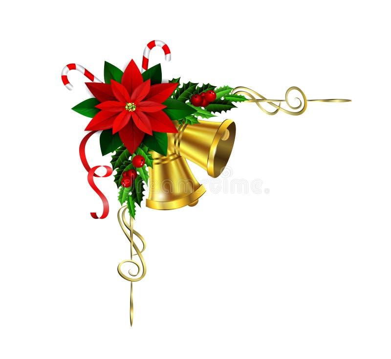Elementi di Natale per le vostre progettazioni illustrazione di stock