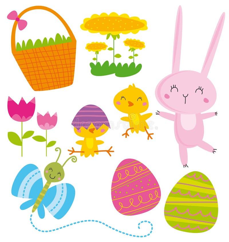 Elementi di Pasqua royalty illustrazione gratis