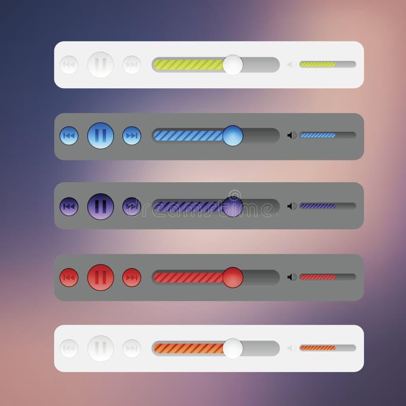 Elementi di percorso di disegno di Web site con le icone impostate illustrazione vettoriale