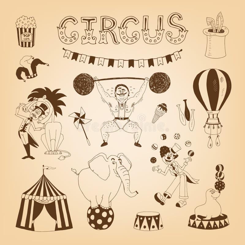 Elementi di progettazione del circo illustrazione vettoriale