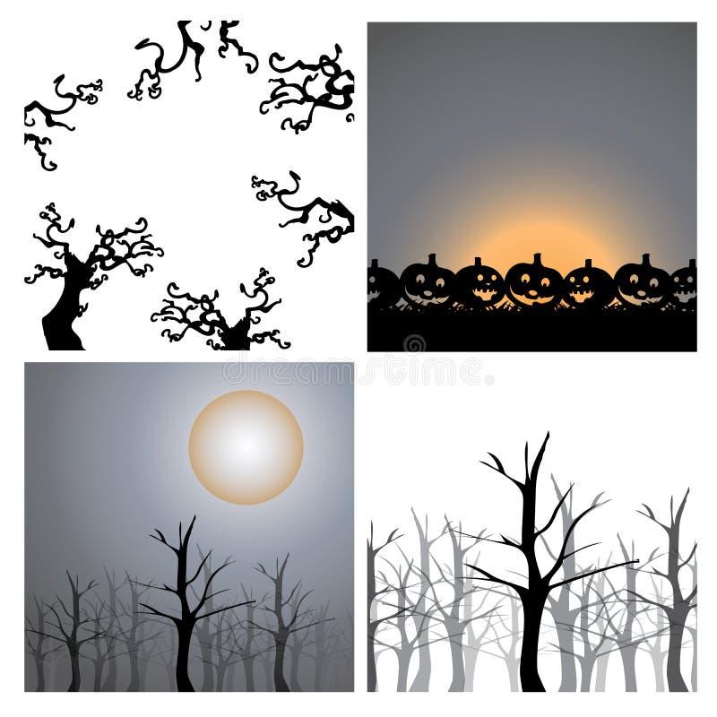 Elementi di progettazione del fondo - Halloween royalty illustrazione gratis