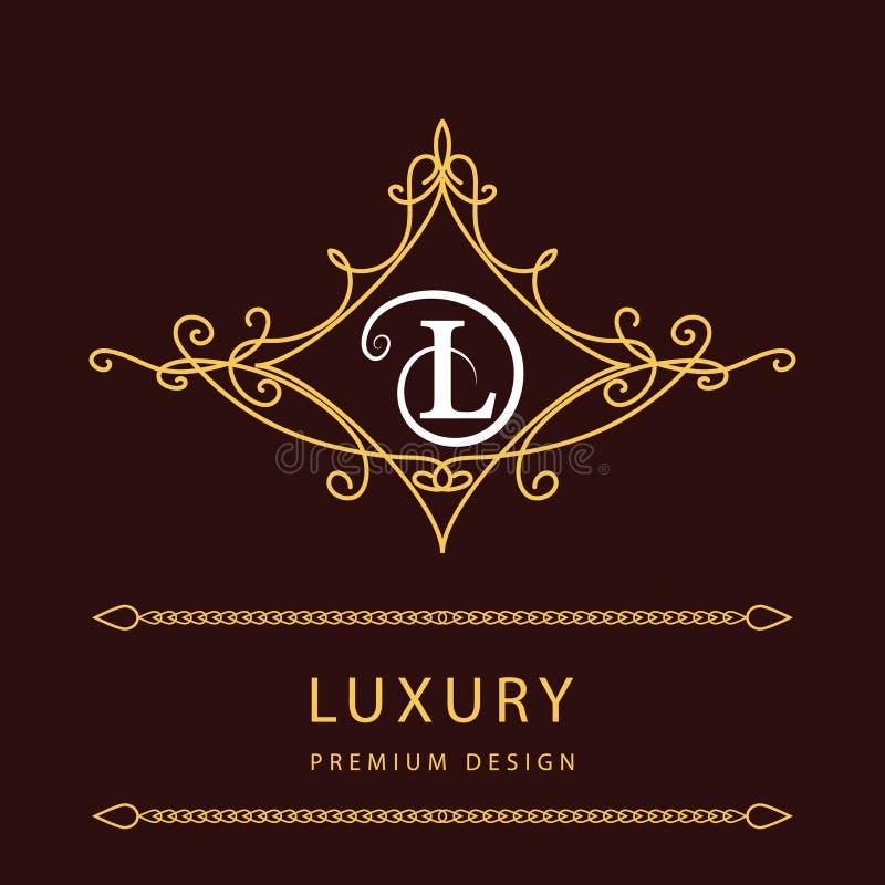 elementi di progettazione del monogramma modello grazioso linea elegante progettazione di logo. Black Bedroom Furniture Sets. Home Design Ideas