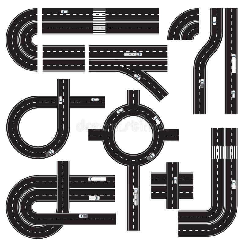 Elementi di progettazione del programma di strada illustrazione vettoriale