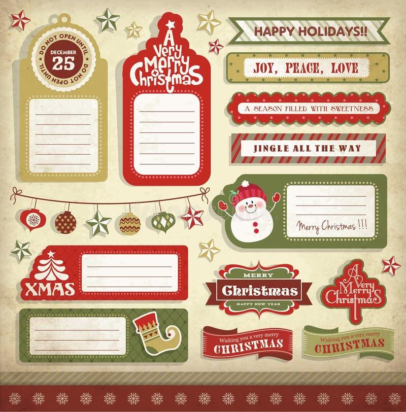 Elementi di progettazione di Natale illustrazione vettoriale