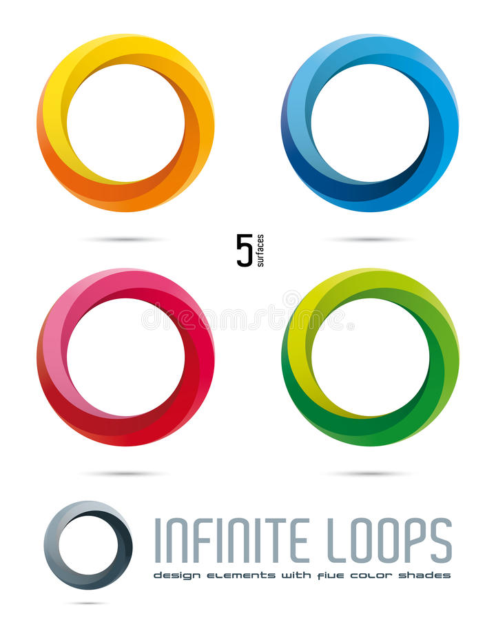 Elementi di progettazione di vettore del ciclo infinito royalty illustrazione gratis