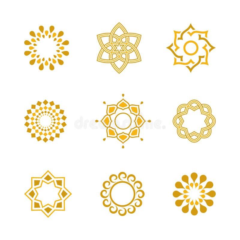 Elementi di progettazione di vettore e decorazione calligrafici di lusso stabiliti della pagina illustrazione di stock