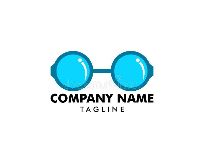 Elementi di progettazione di logo di vettore di vetro royalty illustrazione gratis