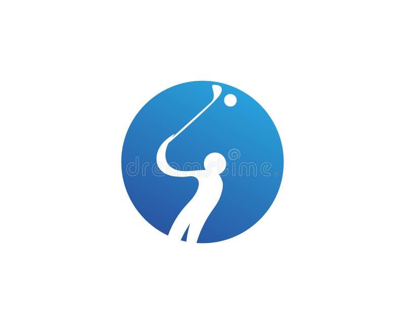 Elementi di simboli delle icone del club di golf ed immagini di vettore di logo royalty illustrazione gratis