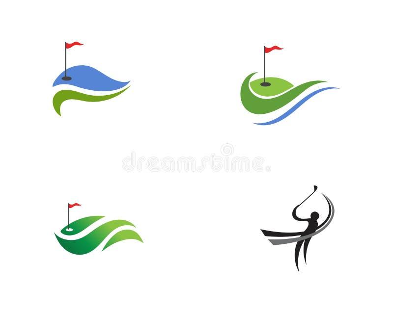 Elementi di simboli delle icone del club di golf ed immagini di vettore di logo illustrazione di stock