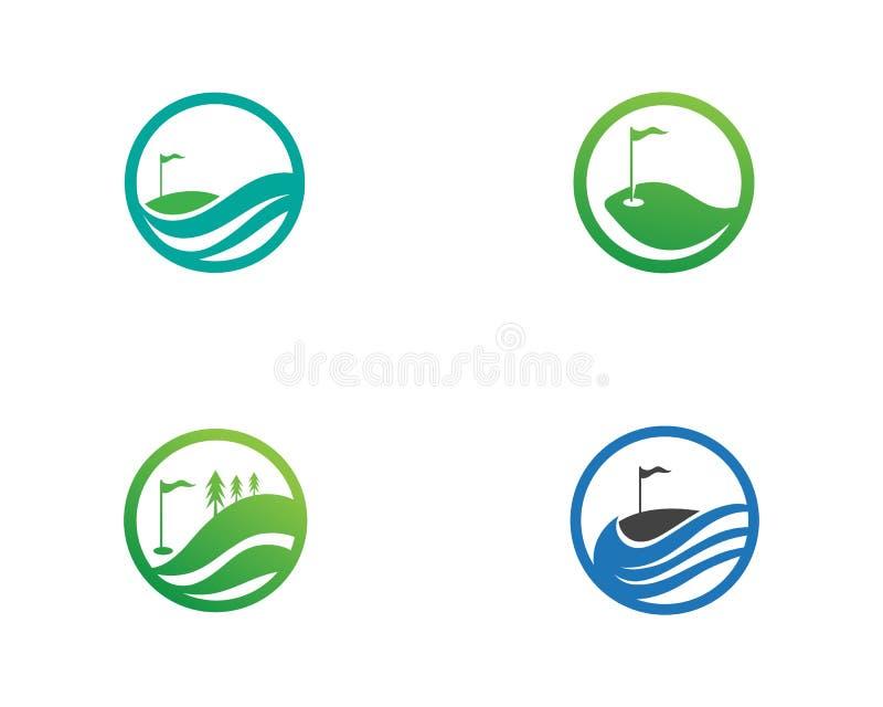 Elementi di simboli delle icone del club di golf ed immagini di vettore di logo illustrazione vettoriale