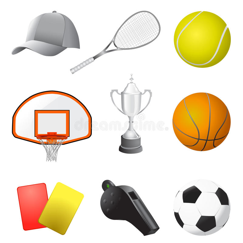 Elementi di sport illustrazione di stock