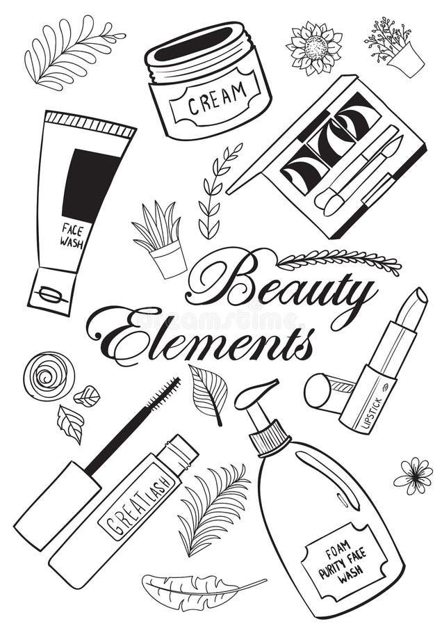 Elementi di trucco e di bellezza immagini stock