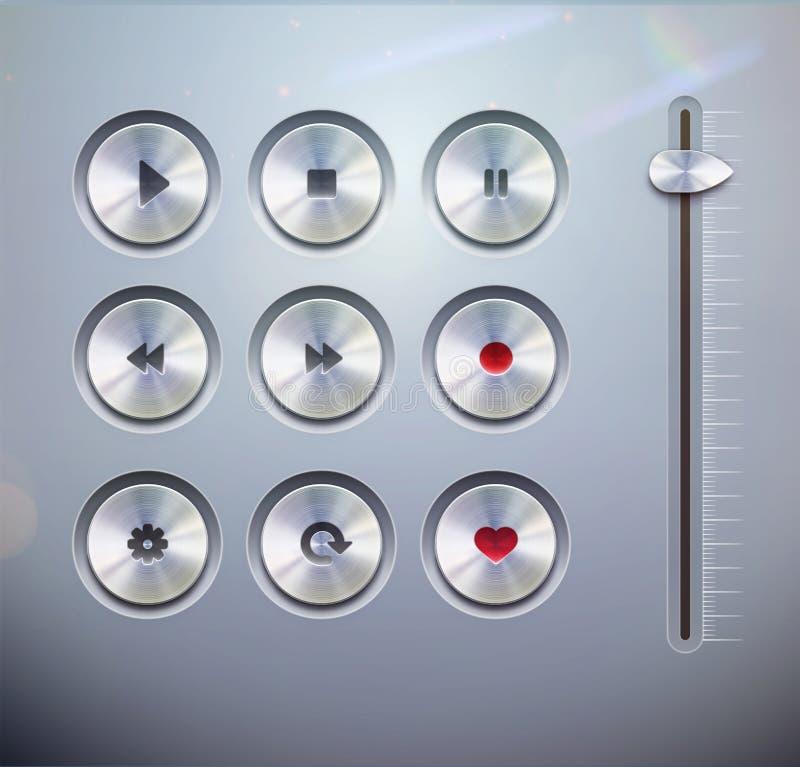 Elementi di UI illustrazione di stock