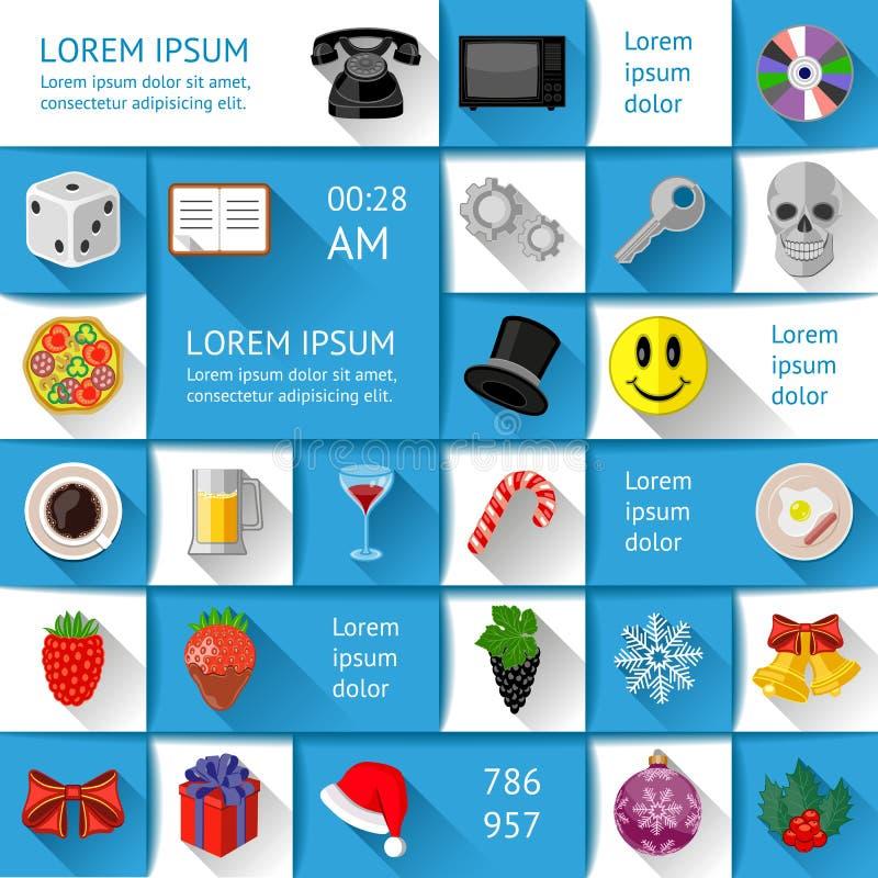 Elementi di Ui, di infographics e di web illustrazione di stock