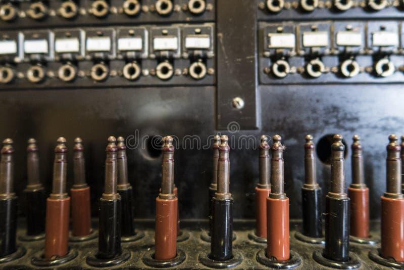 Elementi di vecchio scambio di telefono fotografia stock libera da diritti
