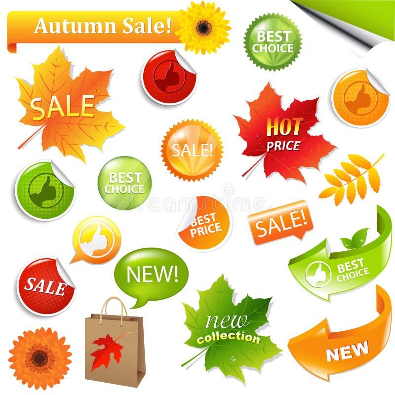 Elementi di vendita dell'accumulazione di autunno illustrazione di stock