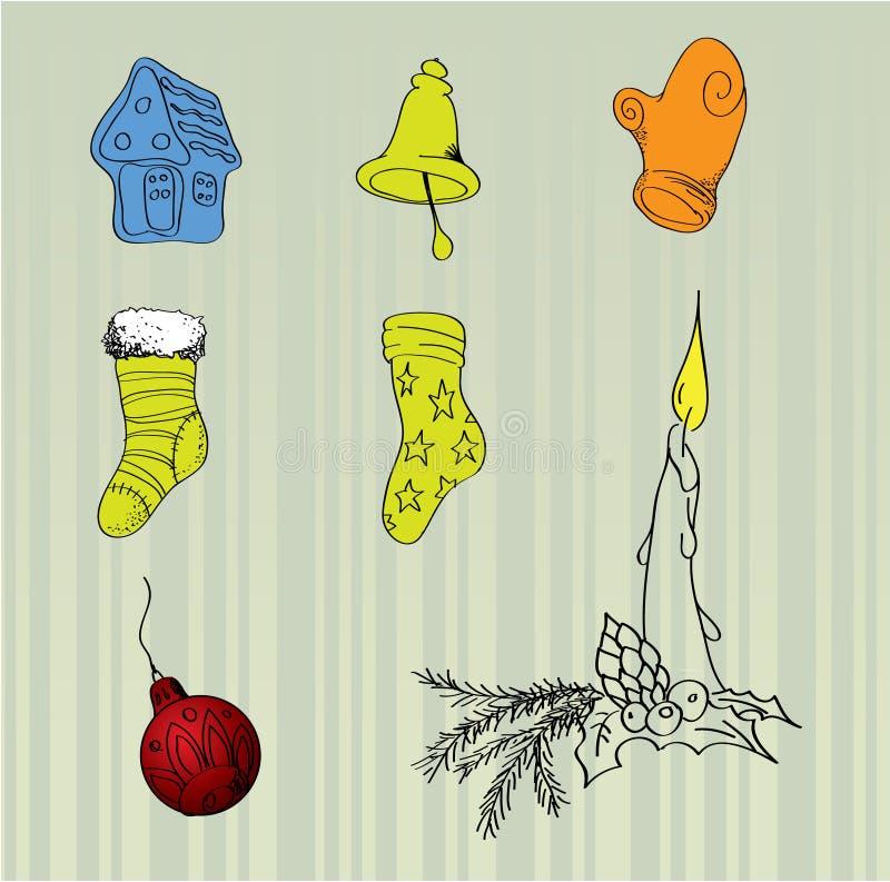 Elementi di vettore di natale illustrazione vettoriale