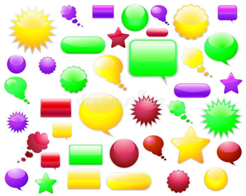 Elementi di Web illustrazione vettoriale