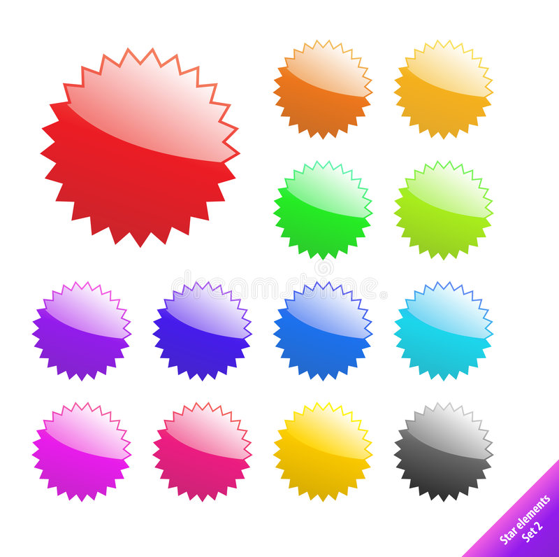 Elementi di Web. illustrazione di stock