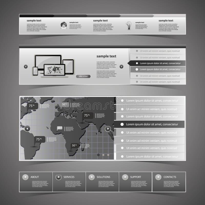 Elementi di web design illustrazione di stock