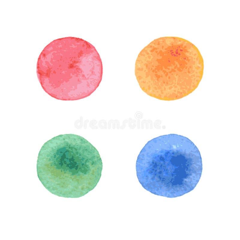 Elementi dipinti a mano variopinti di progettazione di forma del cerchio royalty illustrazione gratis