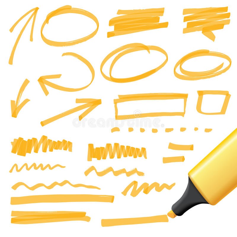 Elementi disegnati a mano di progettazione illustrazione vettoriale