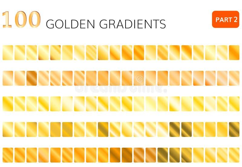 Elementi dorati di vettore 100 di pendenza royalty illustrazione gratis