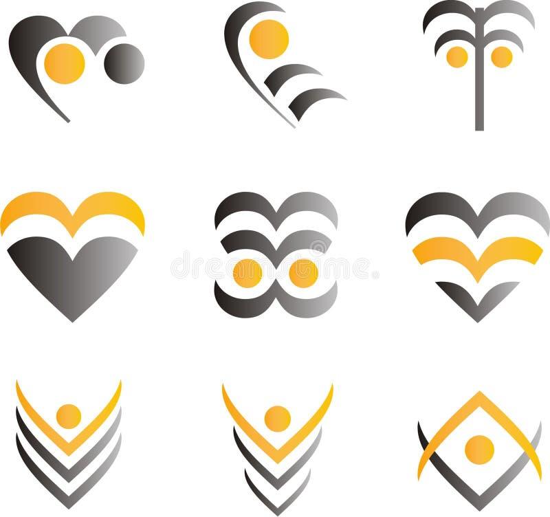 Elementi e logos di progettazione illustrazione vettoriale